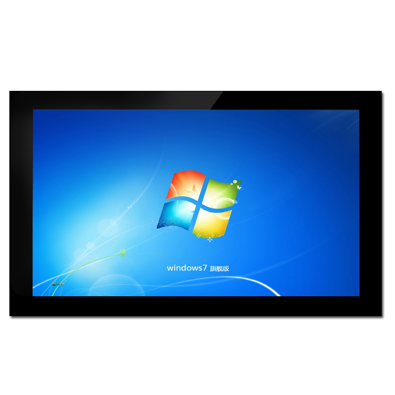 46 inch standing ad monitor with windows media player touch screen shopping mall signage