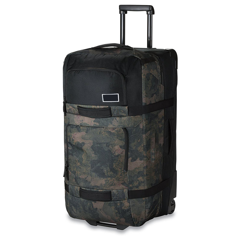 OEM camouflage oxford luggage bag travel trolley vintage carry on duffle luggage with retractable wheels