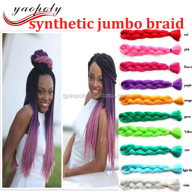 The cheapest factory wholesale synthetic hair extension expression hair bestseller synthetic jumbo braiding hair 24 inch 100g