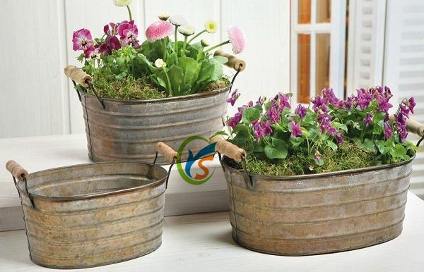 Decorazione Vasi Da Giardino : Vintage stile rustico pc set da giardino in metallo decorazione
