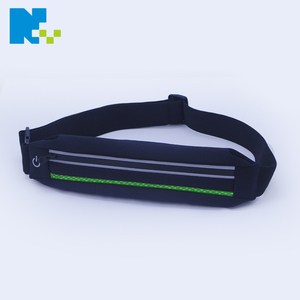 safety running night sport lycra waterproof led waist fanny pack