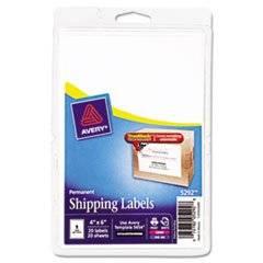 ** Laser/Inkjet Shipping Labels w/TrueBlock Technology, 4 x 6, White, 20/PK **