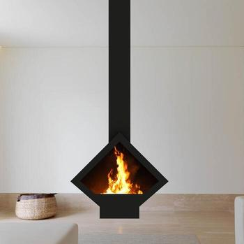 Golner Wood Stove And Ceiling Mounted Fireplace For Home And Hotel
