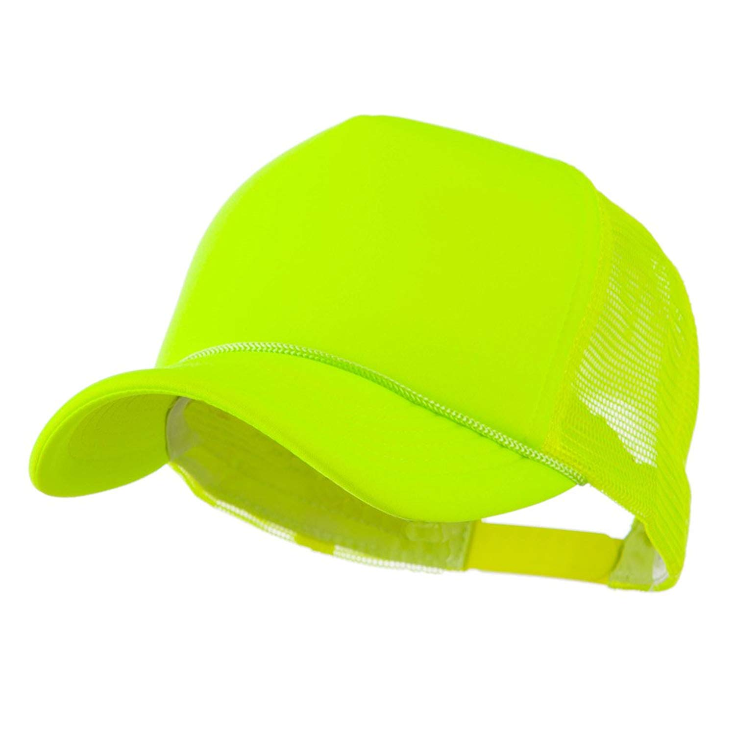 a72bc8c9bb6 Get Quotations · Neon Color Foam Front Summer Trucker Cap - Neon Yellow