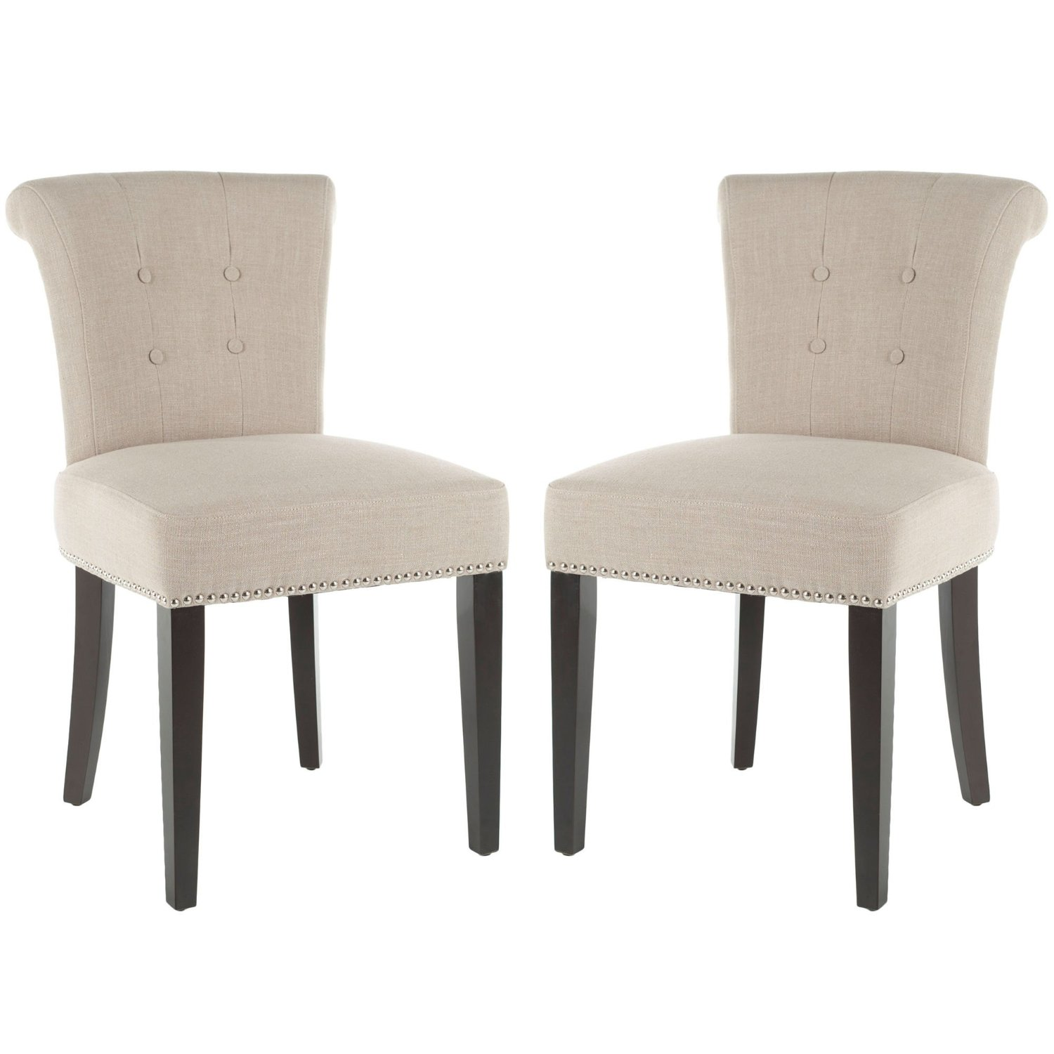 Peachy Cheap Linen Nailhead Dining Chairs Find Linen Nailhead Bralicious Painted Fabric Chair Ideas Braliciousco