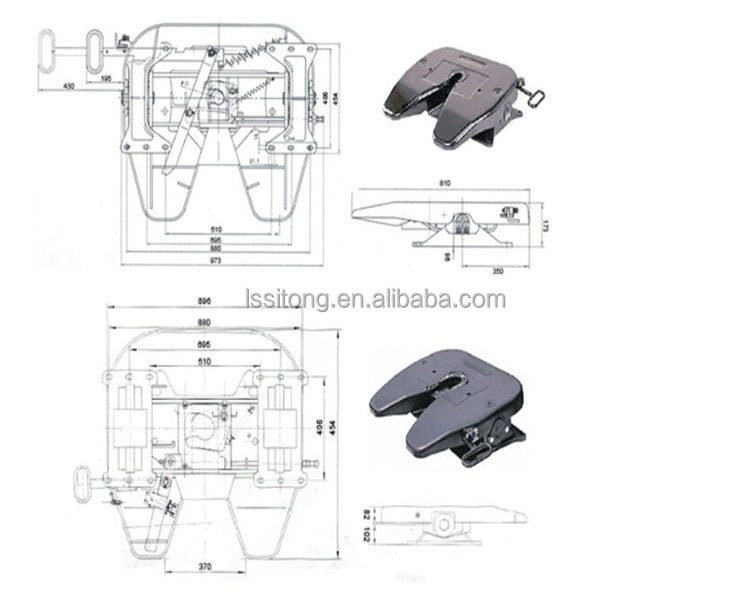 Semi Coupling System : Fifth wheel coupling semi trailer parts
