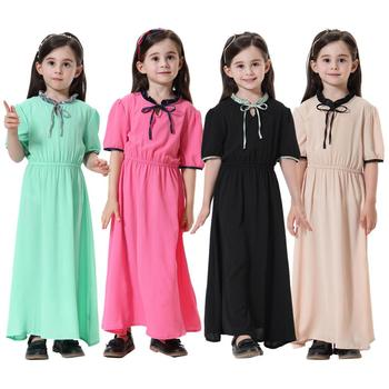 muslim kids abaya girl wholesale middle east turkish arabic children abaya fancy kids girl muslim long dress for muslim girls
