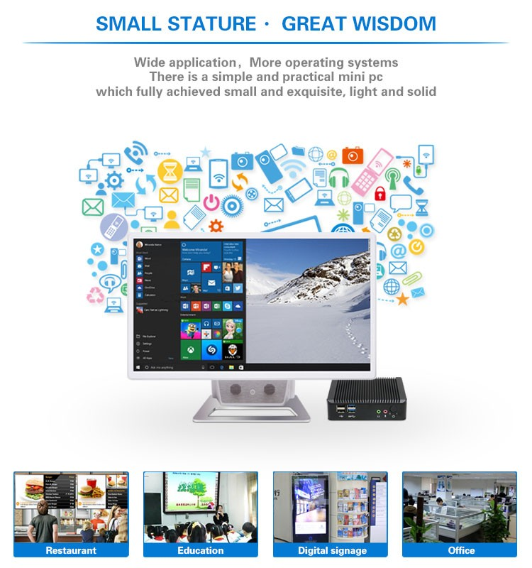 High Performance mini PC Intel J1900 thin client Support dual monitors Smart PC Cloud Client Computing