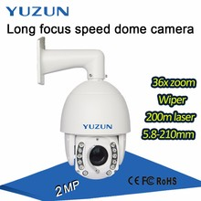 200m ir long range 5.8-210mm 36x optical zoom ptz ip dome camera