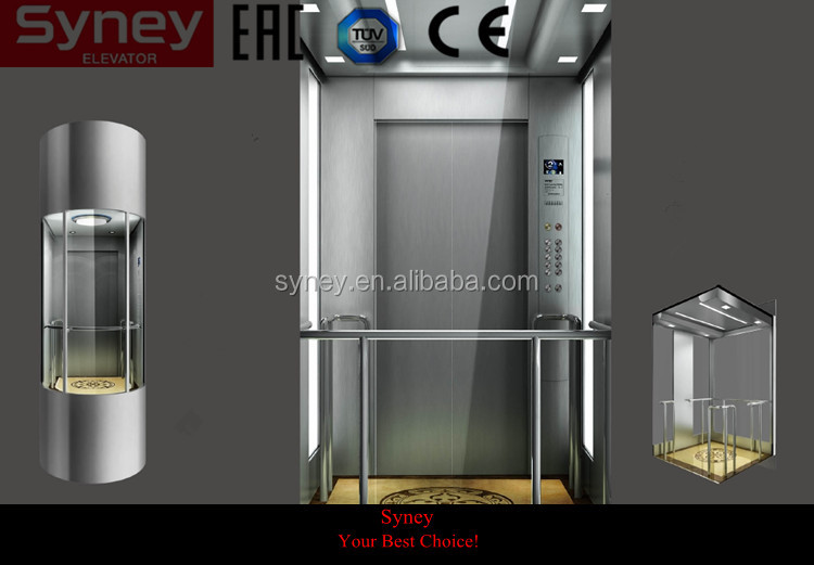 Outdoor lift elevators for sighting seeing or passenger lifting