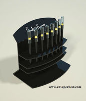 black acrylic cosmetic display for eyebrow pencil