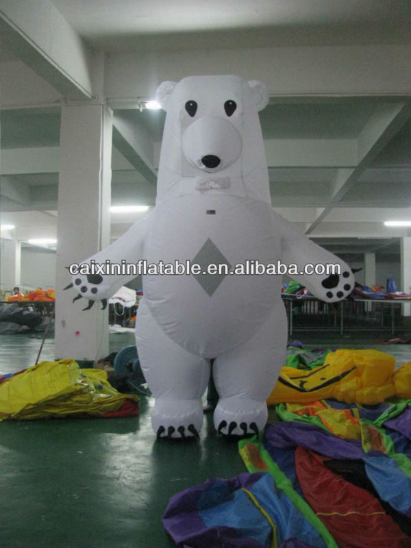 customized/ advertising inflatable polar bear/ inflatable polar bear model/ inflatable polar bear mascot for event/ advertising