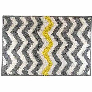 Get Quotations Mainstays Chevron Bath Rug Yellow Super Soft Construction