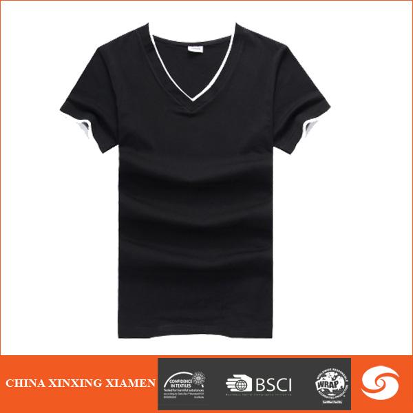 Wholesale 100 cotton black v neck t shirt with your own for 100 cotton v neck t shirts wholesale