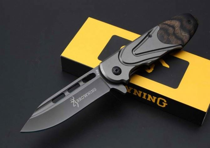 Browning X56 quick-opening survival <strong>knife</strong> combat hunting tactical army folding pocket <strong>knife</strong>