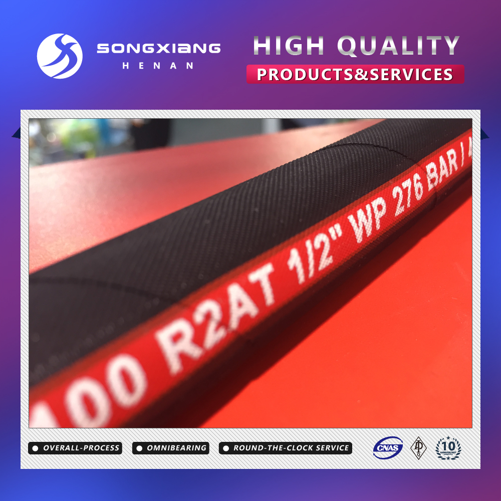 Braided flexible cloth covered metal hydraulic hose manufacturer