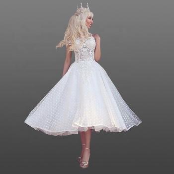 3d49d36783 2018 Lace Wedding Dresses Short Ball Gown Skirt Vintage Bridal Gowns  Princess Girl Bridal Gowns