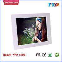 Wholesale bulk wall mount gif lcd led hd 12 inch digital frame digital photo frame digital picture frame rohs YYD-1205