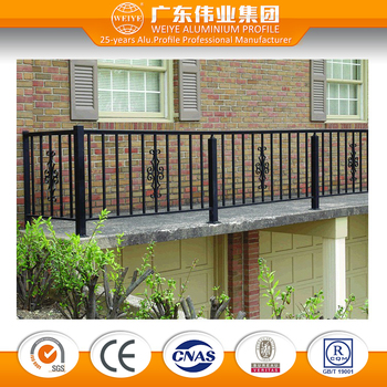 Singapore modern powder coated aluminum stair railing terrace balcony railing designs in india for balcony railing