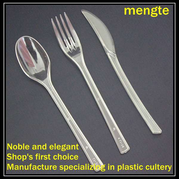 Top Quality disposable plastic clear cutlery set