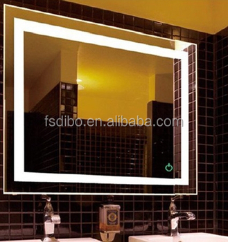 6000K 5050 LED Strips Illuminated Backlit Mirror For Canada Hilton Hotel Project