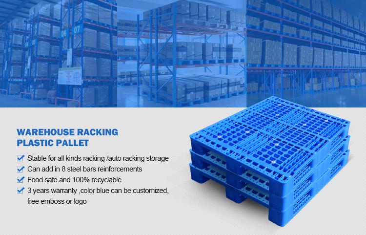 1200x1000mm prime HDPP acciaio rinforzato pallet in plastica