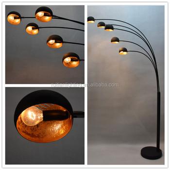 Modren Arc 5 Arm Floor Lamp Mass Black Standing Lamp Buy Modern Metal Floor Lamp Arc Black Floor Lamp Light Arc Product On Alibaba Com