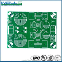 green uv pcb with passive component