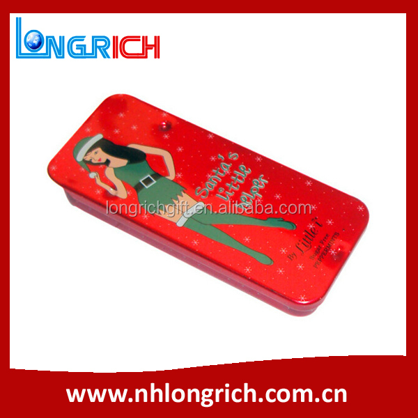 rectangle small sliding lid mint candy tin box wholesale