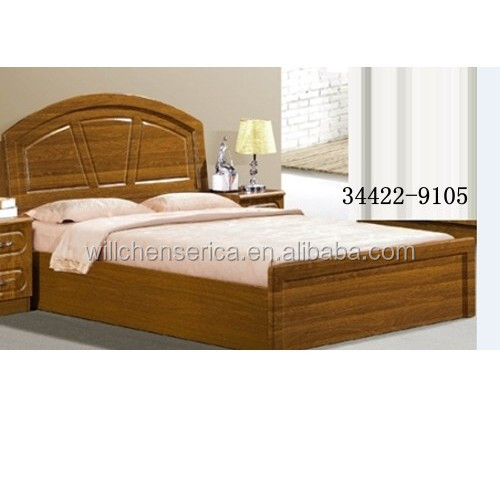 2015 new design 34422 9105 wooden mdf golden double bed for Latest double bed designs 2016
