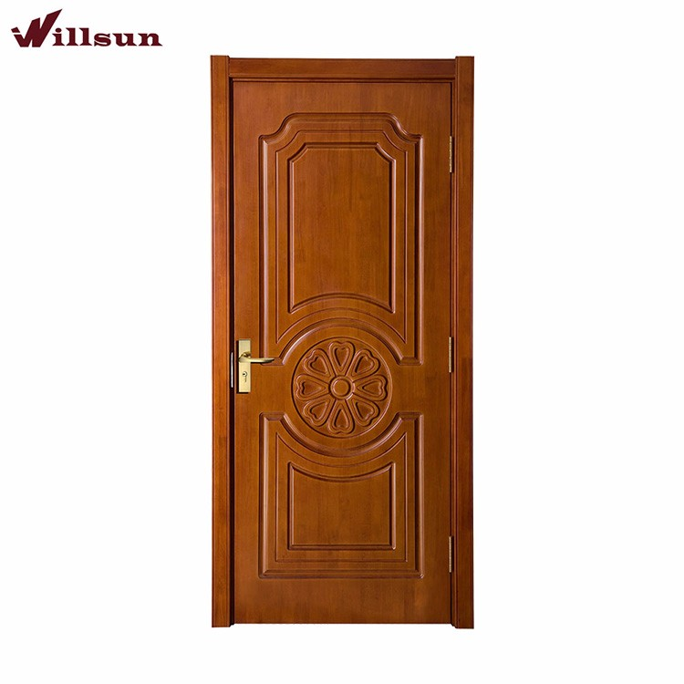 Teak Veneer Carving Wooden Kerala Lounge Main Door Designs