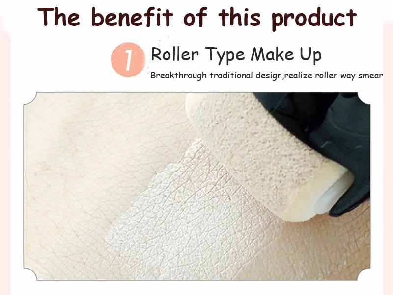 bioaqua Concealer BB cream Roll wheel Natural Whitening Sun block Cream Waterproof BB cream