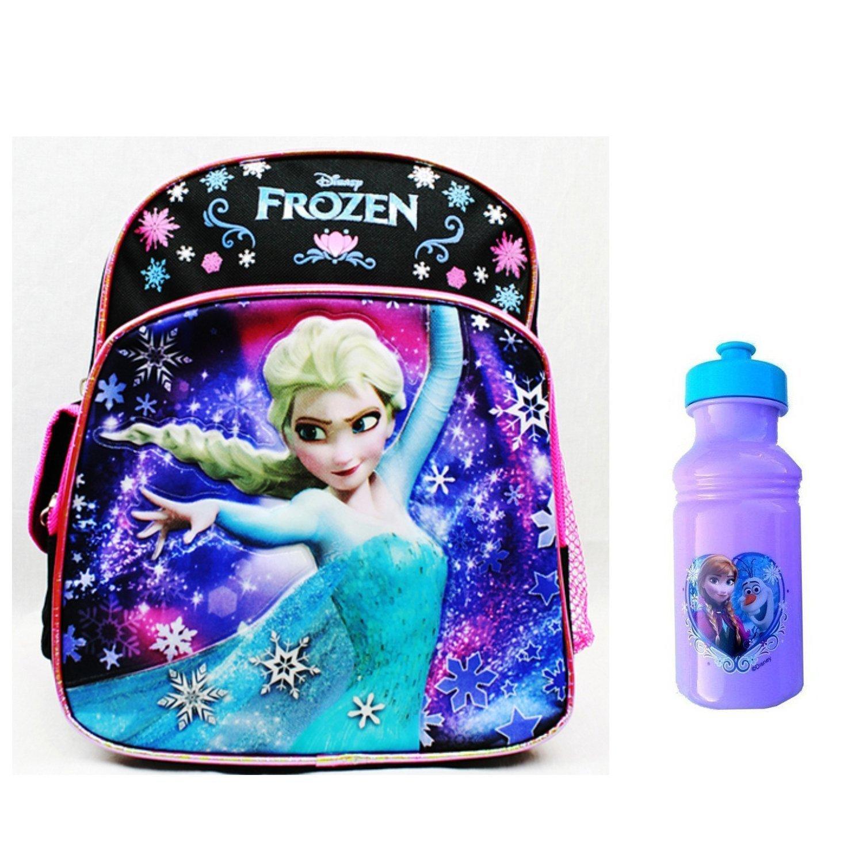 b9dc2987e5c Disney Frozen Preschool Mini Backpack with Disney Frozen Plastic Water  Bottle