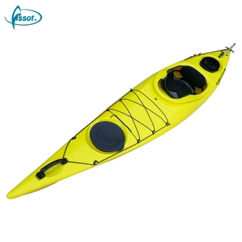 High speed no inflatable 3.6 meters single sit in kayak with paddle