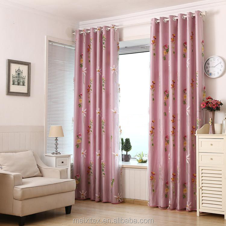 sheer burnout curtain matching satin curtain, double layer readymade curtain