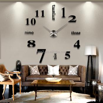 Neue Englisch Digitale Kunst Uhr Kreative Wohnzimmer Schlafzimmer Mute  Wanduhr