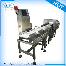 checkweigher online.conveyor belt metal detector for food industry