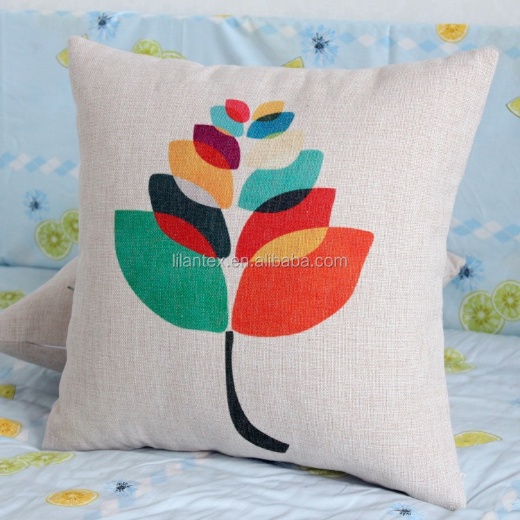 Cheap price wholesale feather digital print picasso sofa cushion cover replacement