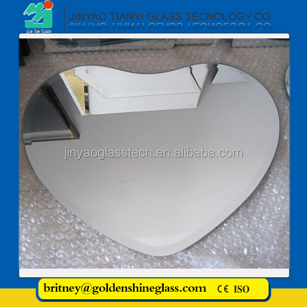 Jinyao Double Coated Float Glass 5mm Aluminum Mirror, produced from magnetron sputtering coating technology