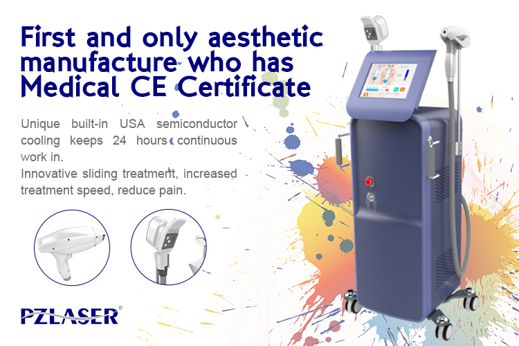 2019 PZ レーザー最新 EOS 氷プラチナ冷却手のため 755 アレキサンドライトレーザー 808 1064 ダイオードレーザー脱毛