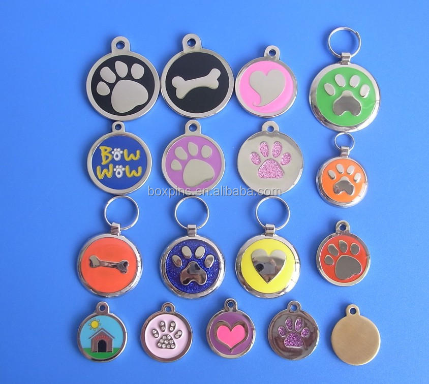 Cheap custom anodized aluminum pet id engraved dog tag pendant