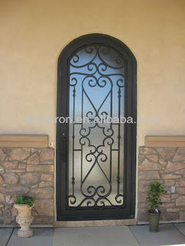 Lovely Wrought Iron Door Grill Designs FS 039