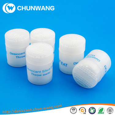 desiccant canister used to eliminate moisture in pharmaceutical packaging