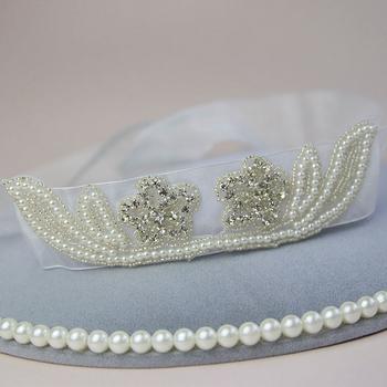 Personalized Wedding Accessories Alloy Rhinestone Dress Belts Pearl Decorative Handmade Bridal Sashes