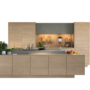 Wholesale apartment small melamine wood veneer kitchen cabinets