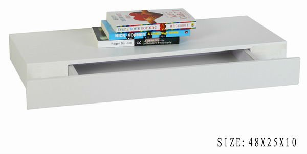 Wall Floating Shelf With Drawer