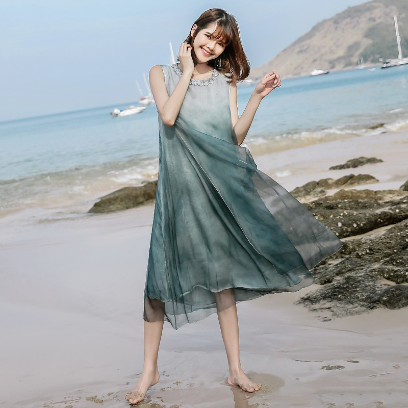 Wholesale Factory Supplier Silk Dress Long Women lady Dress
