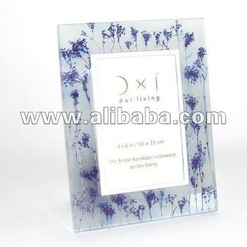 Photo Frame Resin Hand Cast : Purple Field Grass Embed : 4 X 6 Inch ...