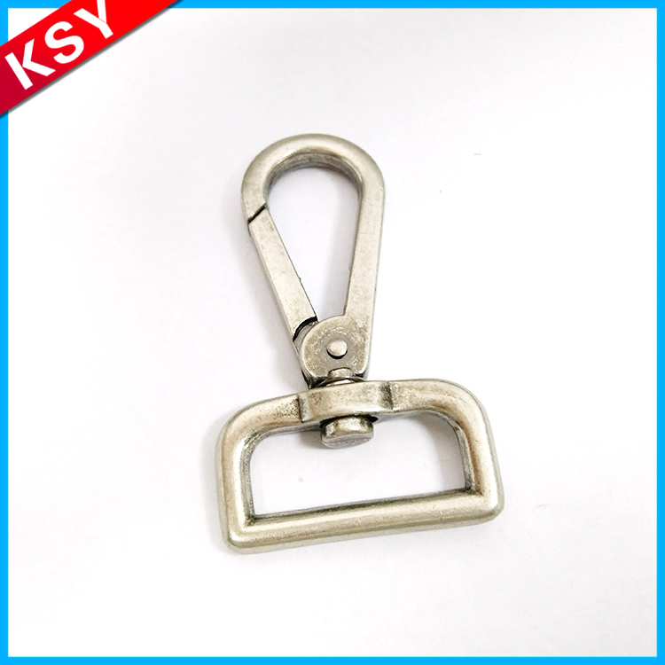 China Supplier Excellent Quality Spring Clip Super Cute Shining Swivel Dog Snap Hook For Handbag