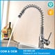 Restaurant dishwasher stainless steel spring faucet